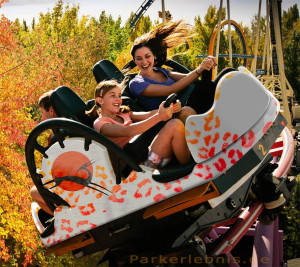 """Der Spinning-Coaster """"Sky Spin"""" - die neue Achterbahn 2013 im Skyline Park"""