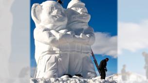 Europa-Park Euromaus aus Schnee