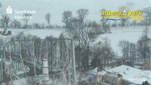 Schnee und Eis im Hansa-Park
