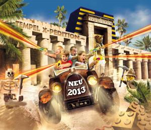 Neue Attraktion 2013 im Legoland: Tempel X-Pedition im Reich der Pharaonen