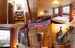 """Beispiel eines Zimmers im Hotel """"Port Royal"""" im Heide Park Resort Soltau"""