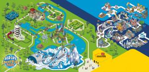 Parkplan vom Sea Life Aquarium und Sea Life Abenteuer Park in Oberhausen