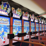 Sonic Athletics Laufband Attraktion im Joypolis Tokyo
