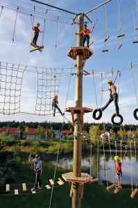 Abenteuerspielplatz im Feriendorf des LEGOLAND Deutschland