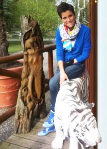 Anna Maria Zimmermann im Zoo Safaripark Stukenbrock