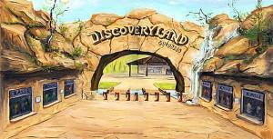 Konzeptzeichnung: So könnte der Eingang zum Discoveryland Goldberg aussehen.