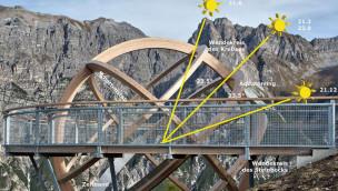 Größte begehbare Sonnenuhr im Alpenraum eröffnet