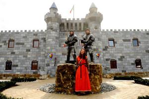 Schlafen in einer Ritterburg - möglich im Legoland Feriendorf! (Das Bild zeigt die aktuelle Burg)