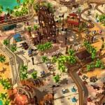 Mit so einem großen Freizeitpark kann man sich beim Adventure Park PC Spiel mehrere Tage beschäftigen.