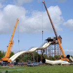 Jaderpark Baustelle Schlauchbootrutsche