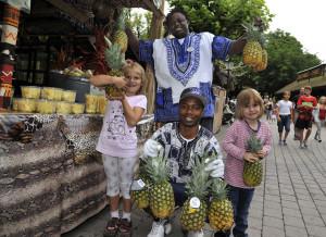 Ananas im Europa-Park für guten Zweck