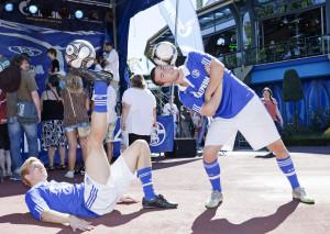 Football-Freestyler beim GAZPROM Erlebnistag im Europa-Park