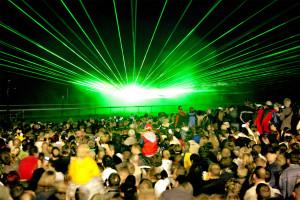 Auch eine großartige Lasershow steht auf dem Programm der Pyrogames. (Bild: Sascha Meinhardt)