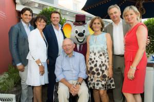 Dr. Wolfgang Schäuble und Ehefrau gratulierten der Familie Mack zum ersten Geburtstag des Bell Rock.