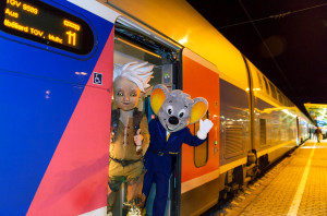 Arthur und die Euromaus sind bereit zur Abfahrt!