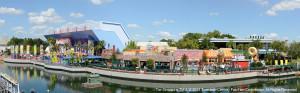 Panorama-Ansicht von Springfield im Universal resort Orlando