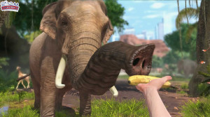 Tiere füttern aus der Ich-Perspektive - bei Zoo Tycoon ist auch das möglich.