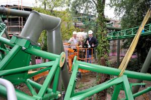 Arthur Darkride Schienenschluss im Europa-Park