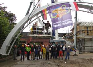Heide-Park Wing Coaster 2014 Baustelle