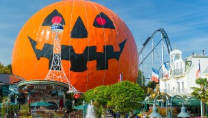 Eurosat Halloween Deko im Europa-Park