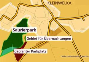 Geplante Erweiterung des Saurierpark