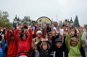 Frohe Herzen im Europa-Park