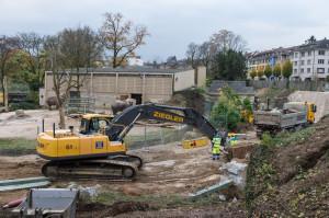 Zoo Basel Elefantenanlage - Baustelle