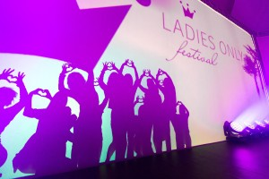 Schattenspiel beim Ladies Only Festival 2014