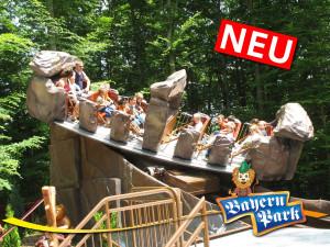 Steinwirbel im Bayern-Park