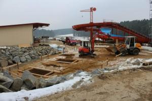 Bayern Park - Steinwirbel Baustelle