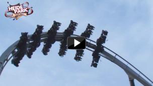 Flug der Dämonen-Immelmann im Heide-Park: Flugmanöver im Video