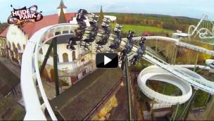 Heide-Park Wing Coaster 2014 – Panorama Kurve im Video