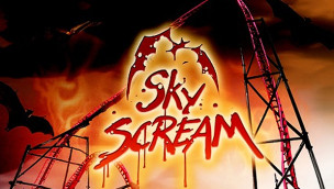 Sky Scream Baustelle im Holiday Park: Die Fassade entsteht