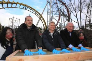 Sky Scream Baustelle Einweihung im Holiday Park