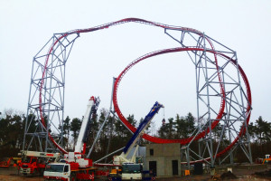 Sky Scream Schienenbau im Holiday Park