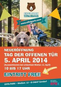 Eifelpark - Flyer zur Eröffnung 2014