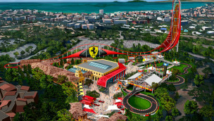 Ferrari Land mit höchstem Launch-Coaster Europas entsteht im PortAventura