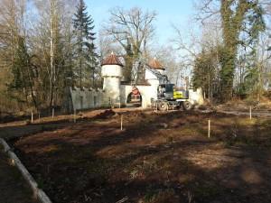Fledermaushaus Schloss Thurn Baustelle