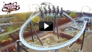 Heide-Park – Over Banked Turn des Flug der Dämonen im Video