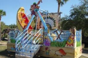 Kinder-Schiffschaukel im Freizeitpark Plohn