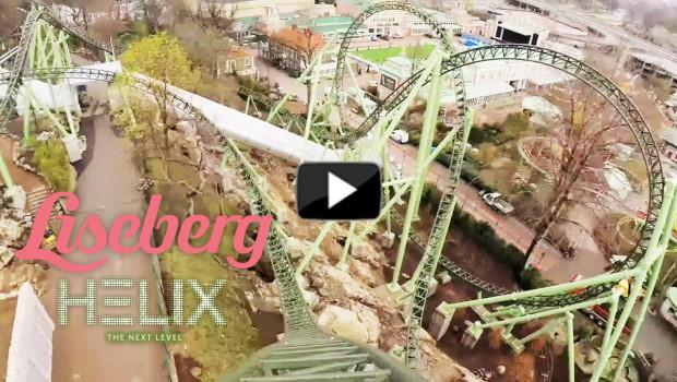 Helix OnRide-Video aus der Liseberg Achterbahn