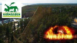 Wildfire OnRide-Animation zur Kolmården-Holzachterbahn