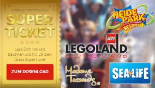 Merlin SuperTickets: 2-für-1 Gutscheine 2014 für Heide-Park, Legoland und Co.