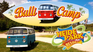 Heide-Park eröffnet Bulli Camp zum Übernachten mit VW-Lizenz im Juli 2014