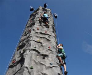 Kletterwand im Playmobil FunPark