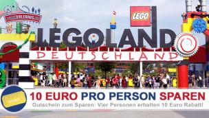 Legoland Gutschein für 10 Euro Rabatt auf Eintritt in der Saison 2014