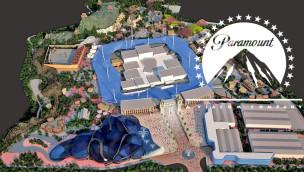 Die erste Konzeptgrafik zeigt, welches Ausmaß der Themenpark von Paramount Pictures annehmen wird.