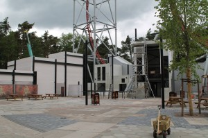 Sky Scream Theming Baustelle im Holiday Park