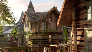 Alton Towers gewährt Einblick in Luxus-Baumhäuser für 800€ pro Nacht