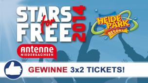 """Freikarten-Freitag #7 – 3×2 Tickets für """"STARS for FREE"""" 2014 im Heide-Park"""
